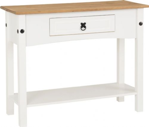 Corin White Console Table
